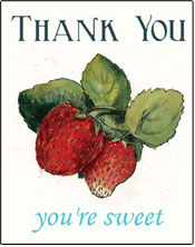 vintage printable thank your cards