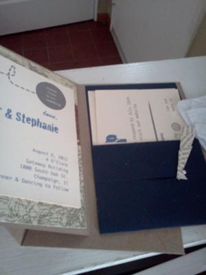 Vintage Paper Airplane Invitations - inside view