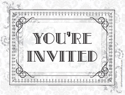 Free Black And White Printable Invitation Orderecigsjuiceinfo - Party invitation template: graduation party invitation postcard templates free
