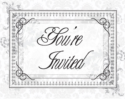 vintage postcard invitations