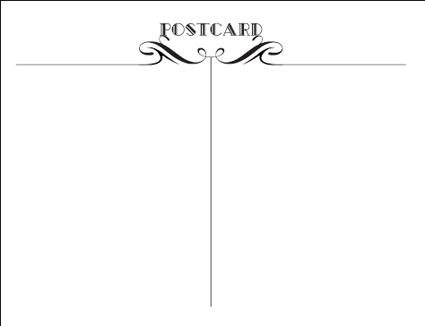 Postcard Back Template - Gse.Bookbinder.Co