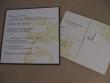 rubber stamp flower eco wedding invitations
