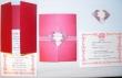 diy gatefold with origami heart wedding invitations