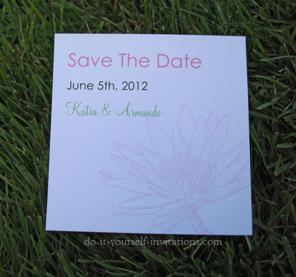 free printable waterlily save the dates