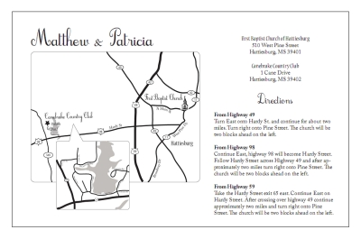 Custom Wedding Invitation Maps on invitations for shower insert, wedding menu insert, maps wedding invitation wording,