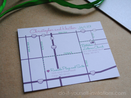 Printable Diy Wedding Invitation Maps