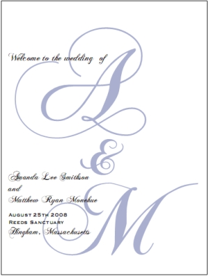 wedding program templates free