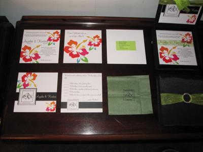 DIY Hawaiian Wedding Invitations