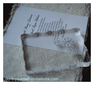 make winter wedding invitation