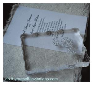 make winter wedding invitation