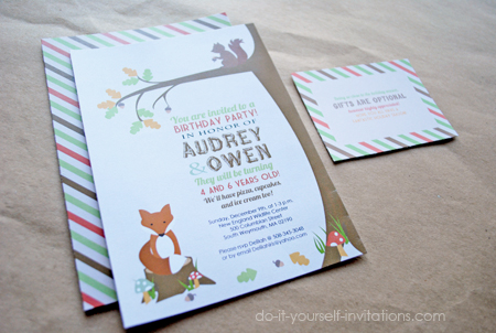 woodland invitations templates