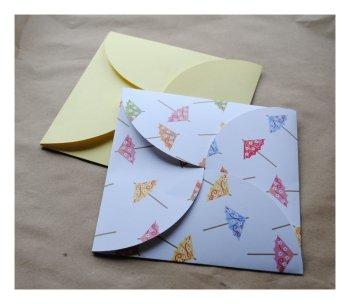 diy pochette invitations