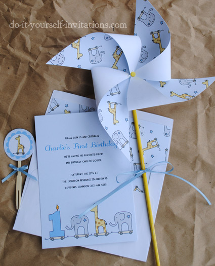 DIY printable birthday invitation templates kit