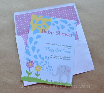 elephant baby shower invitations template