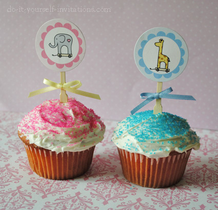 printable 1st birthday invitations cupcake toppers