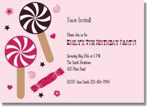 lollipop printable birthday invitations