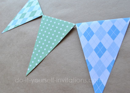 pink argyle printable baby shower bunting banners