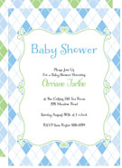 argyle printable baby shower invitations