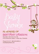printable monkey baby shower invitations