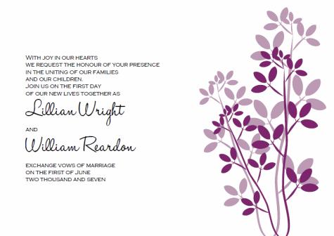 leaves printable wedding invitation templates