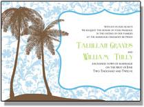 palm tree wedding invitations