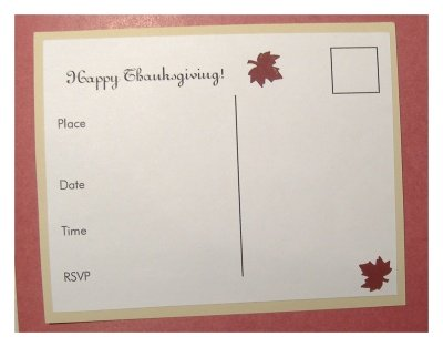 Make Thanksgiving invitations