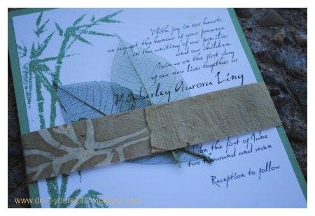 bamboo wedding invitations