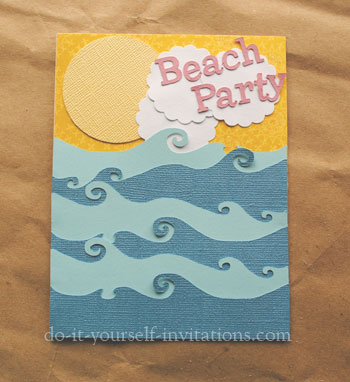 homemade diy beach party invitations