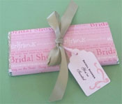 DIY bridal shower candy bar invitations