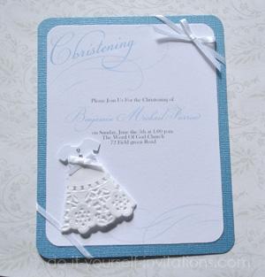 diy christening invitations