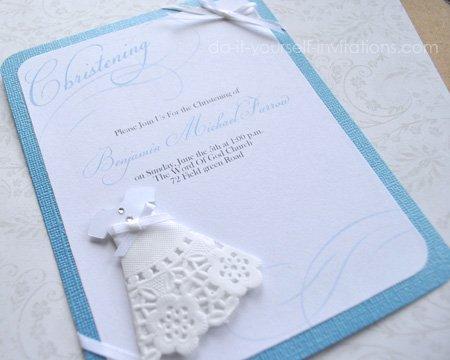 homemade christening invitations