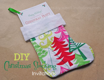 stocking christmas party invitation