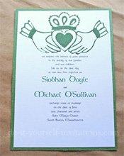 irish claddagh wedding invitations
