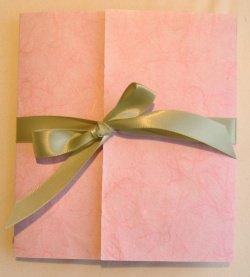 pink custom handmade paper wedding invitations