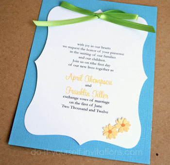 make diy daisy wedding invitations