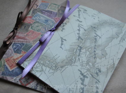 DIY destination wedding invitations