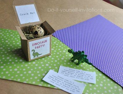dinosaur egg invitations