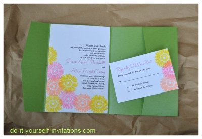 gerbera daisy wedding invitations
