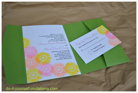 gerbera daisy wedding invitations
