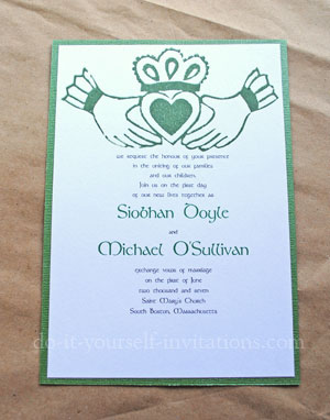 make diy irish wedding invitations