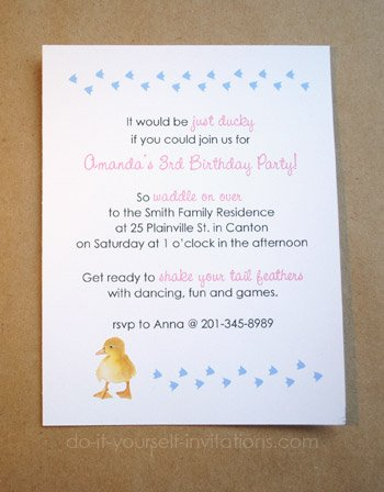 duckie invitations