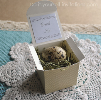 baby shower egg invitations
