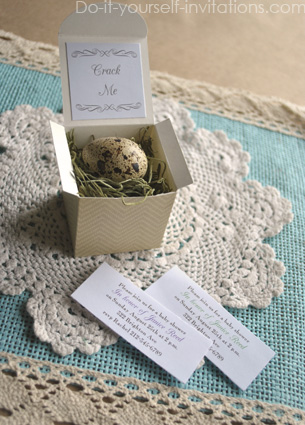 quail egg shower invitations