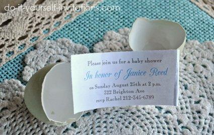 egg baby shower invitations
