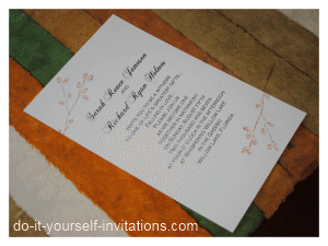 handmade autumn wedding invitations