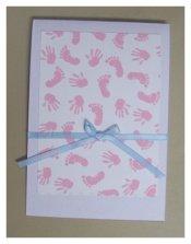 footprint baby invitations