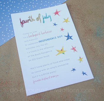 homemade diy fourth of july invitations