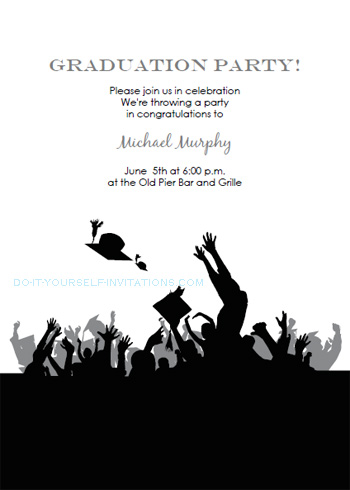 image relating to Printable Graduation Party Invitations identify Absolutely free Printable Commencement Invites Templates