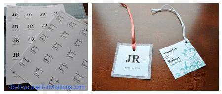 make wedding favor tags