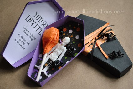 printable halloween coffin invitation template